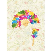 TULIP BREEZE HANDMADE MULBERRY PAPER EXPANDABLE FAN