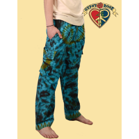 Rocket Man Tye Dye Cotton Cargo Pants