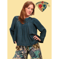 Born Free Acid Wash Hippie Top