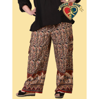 Marrakesh Express XL Indian Print Cotton Cargo Pants