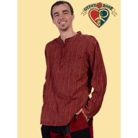 Midnight Rambler Over Dyed Striped Cotton Men's Kurta