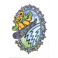 Grateful Dead Bear Snowboarder Large Sticker