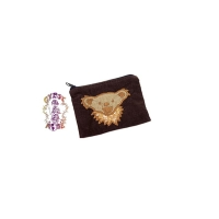 GRATEFUL DEAD DANCING BEAR APPLIQUE CORDUROY COIN PURSE