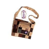 GRATEFUL DEAD STEAL YOUR FACE PATCHWORK CORDUROY DJ BAG