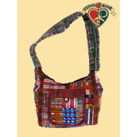 PATCH RECYCLED GUIPILE DAY TRIPPER BAG
