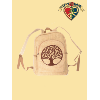 Mother Forest Tree Hand Embroidered Hemp Backpack