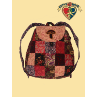 Do It Again Mushroom Applique Patchwork Recycled Printed Corduroy Teardrop Backpack
