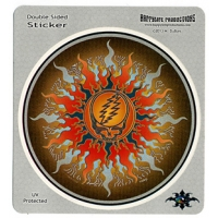 GRATEFUL DEAD STEAL YOUR FACE FIERY SUN STICKER