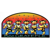 Bee Grateful Grateful Dead Dancing Bear Bees Sticker