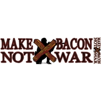 MAKE BACON NOT WAR BUMPER STICKER