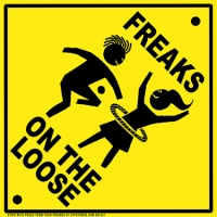 Freaks On The Loose Sticker