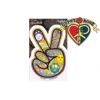 PSYCHEDELIC PEACE SIGN HAND WINDOW STICKER