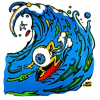 EYEBALL SURFER STICKER