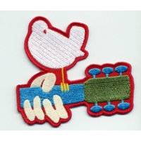 PATCH - WOODSTOCK DOVE GUITAR LOGO PATCH