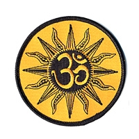 OM IN SUN CIRCLE PATCH