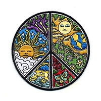 PSYCHEDELIC PEACE SUN NATURE PATCH
