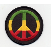 RASTA PEACE SYMBOL PATCH