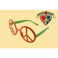 Two Tone Peace Sign Sunglasses
