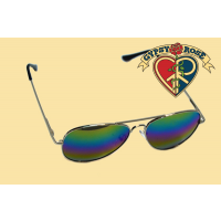 Rainbow Mirror Aviator Sunglasses