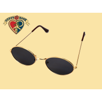 Oval Super Dark Smoke Sunglasses